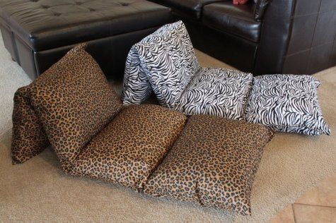 How to make a pillow chaise forchildren - Grandma's Briefs - On life's second act