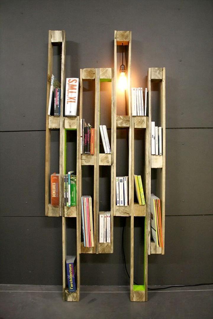Best 25 pallet bookshelves ideas on pinterest pallets for Creative pallet