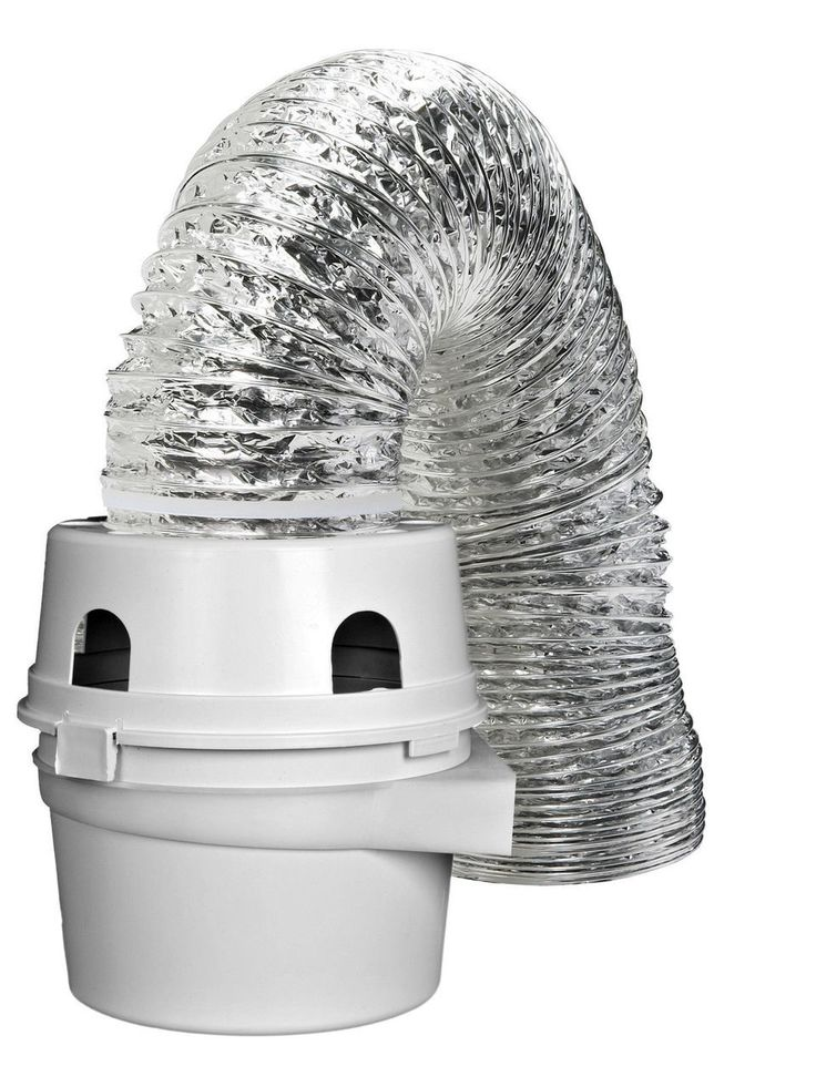 "TDIDVKZW Dryer Indoor Vent Bucket Kit Aluminum Flex 4"" x 5"