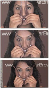 The Most Genius Eyebrow Tool Ever! Seriously! It Gets You Perfect, Totally Symmetrical Brows!