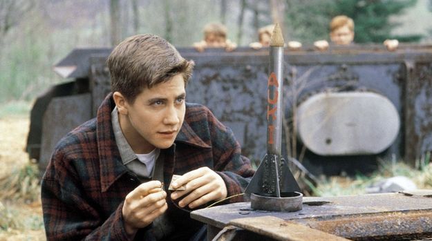"He grew up to be such a hottie!  October Sky (1999). An ""inspirational"" movie that isn't absurdly sappy (and stars a very young Jake Gyllenhaal). 