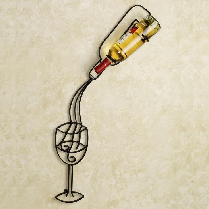 Vintage Tasting Wall Wine Bottle Holder *Conversation piece for sure*