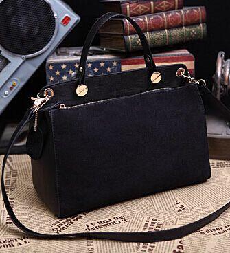 Горячая! новый 2014 женщин из натуральной кожи люксовый бренд сумка нубука большой черный тотализатор известный сумки свободного покроя, принадлежащий категории Сумки с короткими ручками и относящийся к Чемоданы и сумки на сайте AliExpress.com | Alibaba Group