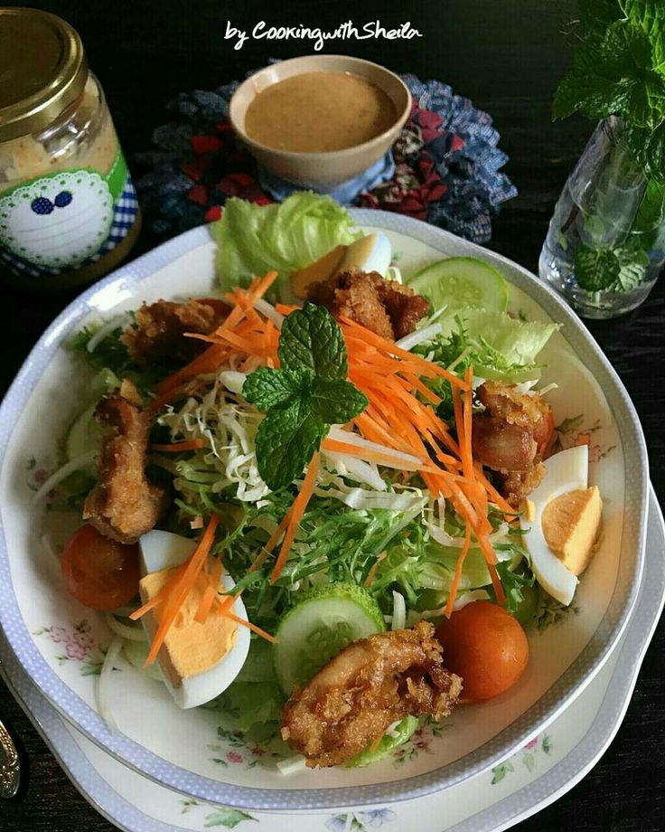 Japanese Sesame Dressing Chicken Salad
