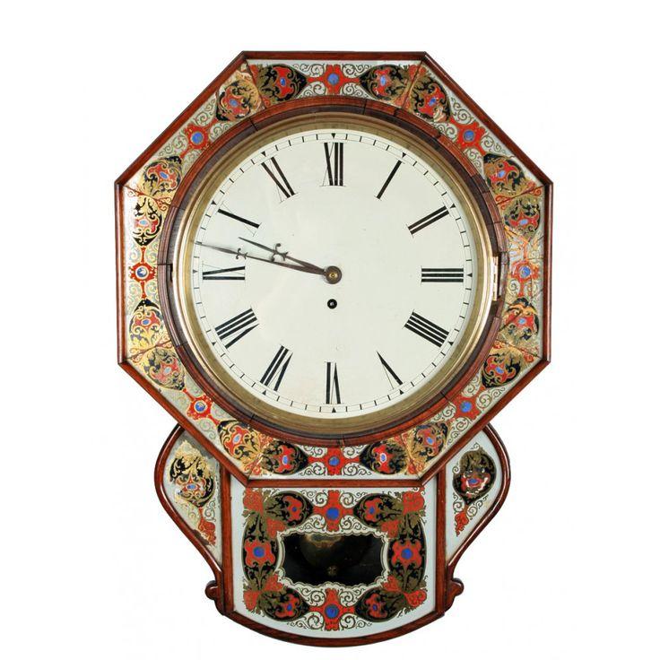 Victorian Wall Clock | ... Clocks & Scientific › Clocks › Victorian Rosewood Fusee Wall Clock