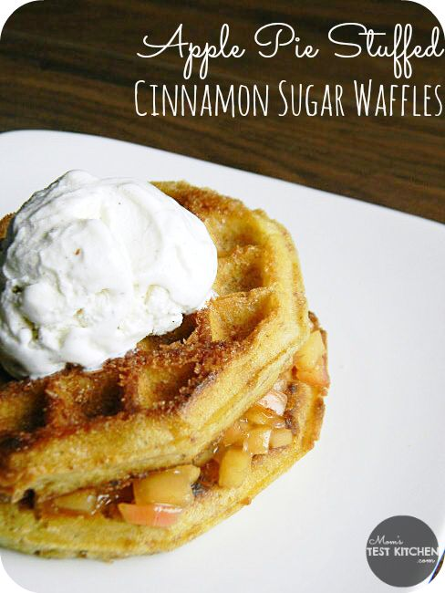 Apple Pie Stuffed Cinnamon Sugar Waffles | www ...