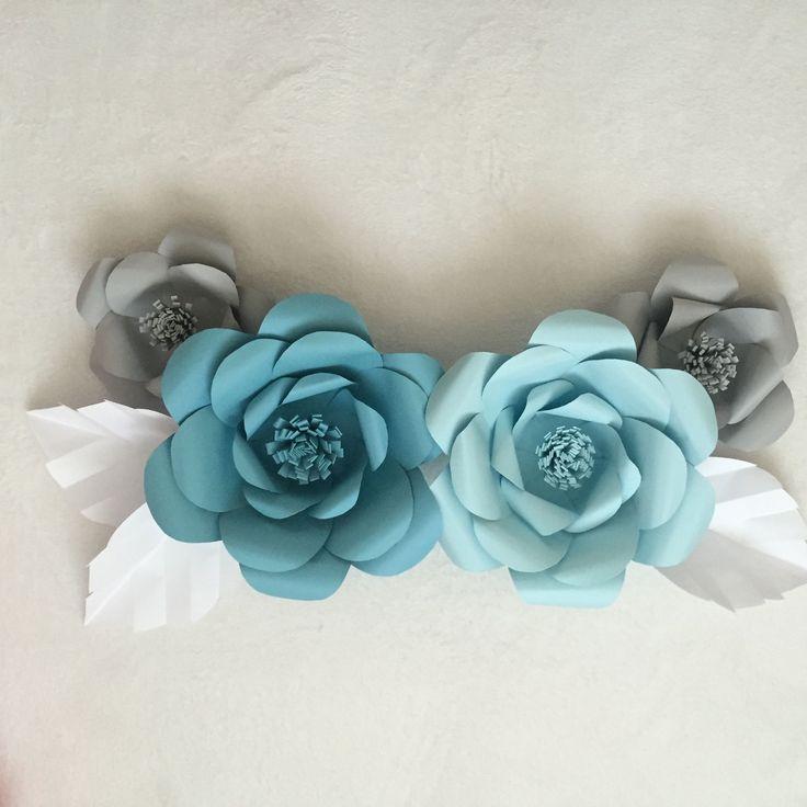 Paper Flower Tutorial AshAndCrafts - Big DIY Ideas