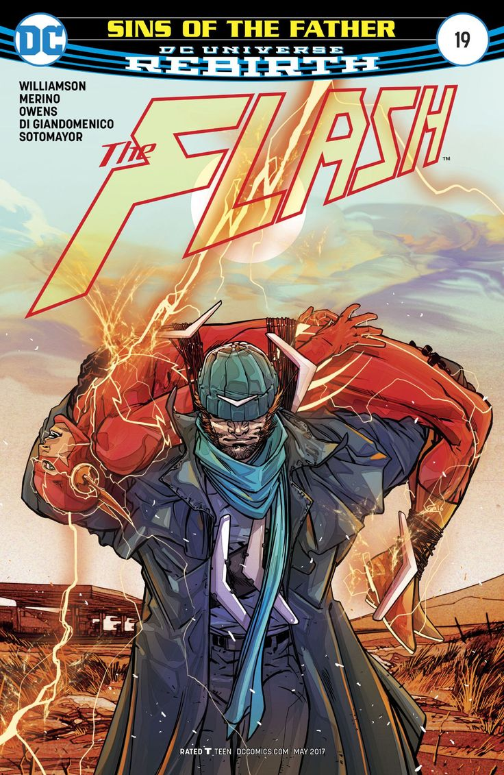 """The Flash n°19 (22.03.2017) // """"SINS OF THE FATHER"""" finale! Wally's quest for knowledge about his villainous father takes him and Barry Allen to the Australian outback and into the debt of Captain Boomerang, one of The Flash's oldest enemies and the last person to see Wally's father, Reverse-Flash, alive.  #flash #theflash #captain #boomerang #dccomics #dc #rebirth"""