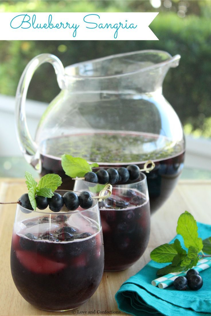 Blueberry Sangria from LoveandConfections.com