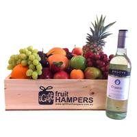 Angove Organic Sauvignon Blanc Fruit Hamper  #fruithampers #fruitgifts #giftsformen #luxurygifts #mangifts #freeshipping #hampers #gifthampers #giftsaustralia