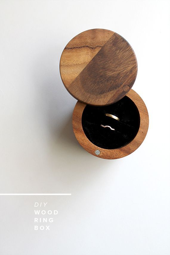 one last minute simple wedding DIY we made was this ring box. we wanted something minimal and a...