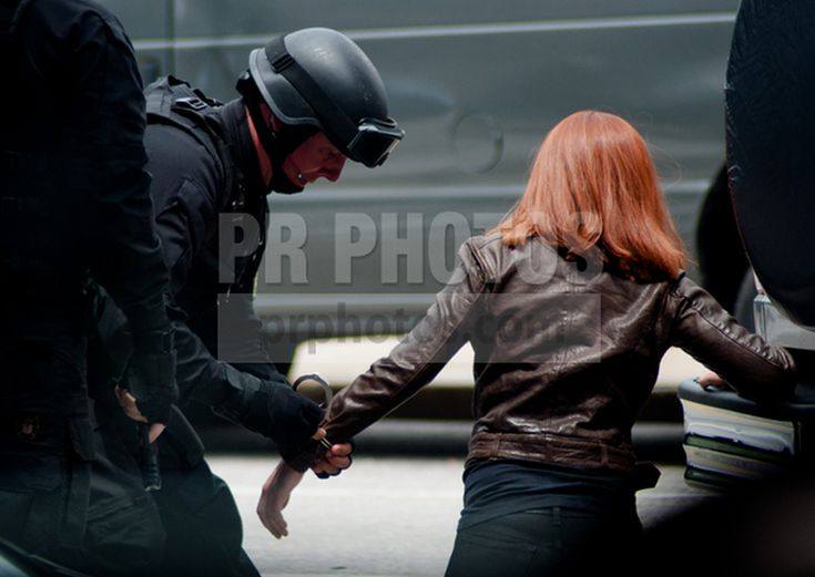 captain america 2 black widow movie photos | ... the set ...