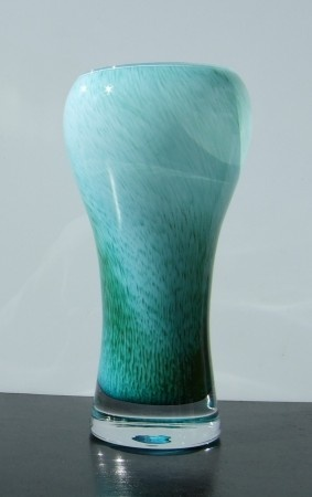 Oiva Toikka-designed Arabia Finnish art glass crystal vase 1960s-70s