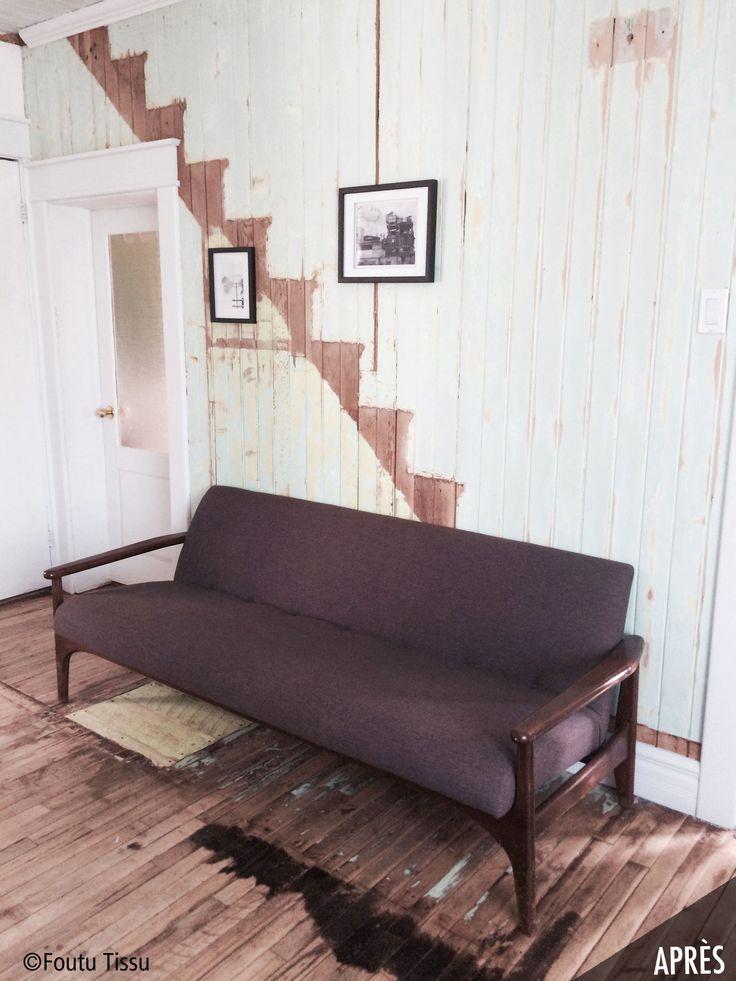 meuble remis à neuf par foutu tissu.