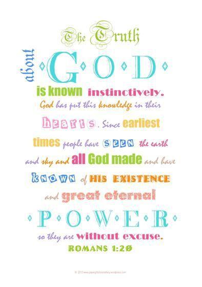 Bible verse card free printable Romans 1-20