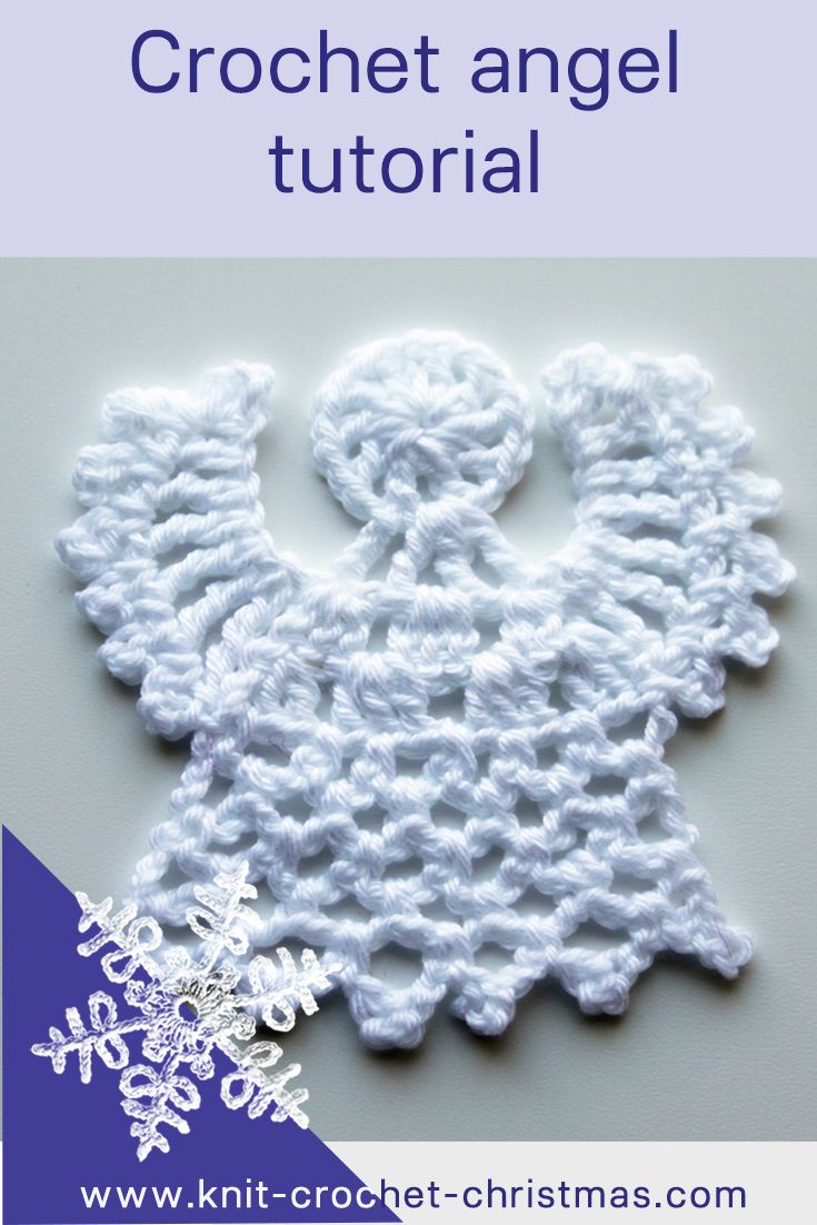 Easy crochet angel pattern, videotutorial