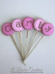 Cute cookie pops with letters to make a name! Söta cookie pops med bokstäver som bildar ett namn!