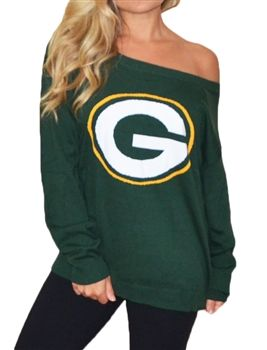 Green Bay Packers Off Shoulder Sweater #GreenBayPackers