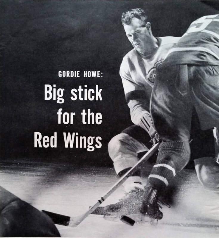 "Gordie How Detroit Red Wings NHL Hockey Stanley Cup 'Big Stick"" pictorial 2 pages CLASSIC photo Wall Art NHL Fan 13 x 10.  Ready to Frame by bluemtcreative2 on Etsy"