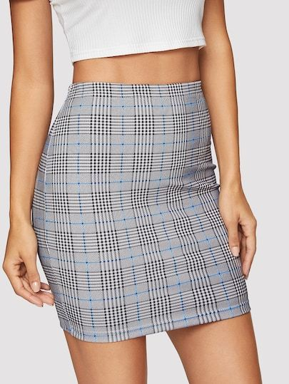 60c31ed18b1d Glen Plaid Bodycon Skirt in 2019 | Various BOTTOMS|Skirts|Shorts|Pants|Leggings|Jumpsuits  | Body con skirt, Glen plaid, Skirts