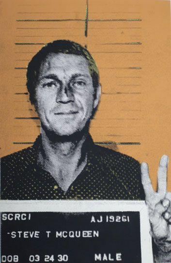 Steve McQueen by Rachel Schmeidler, Hollywood Most Wanted series.