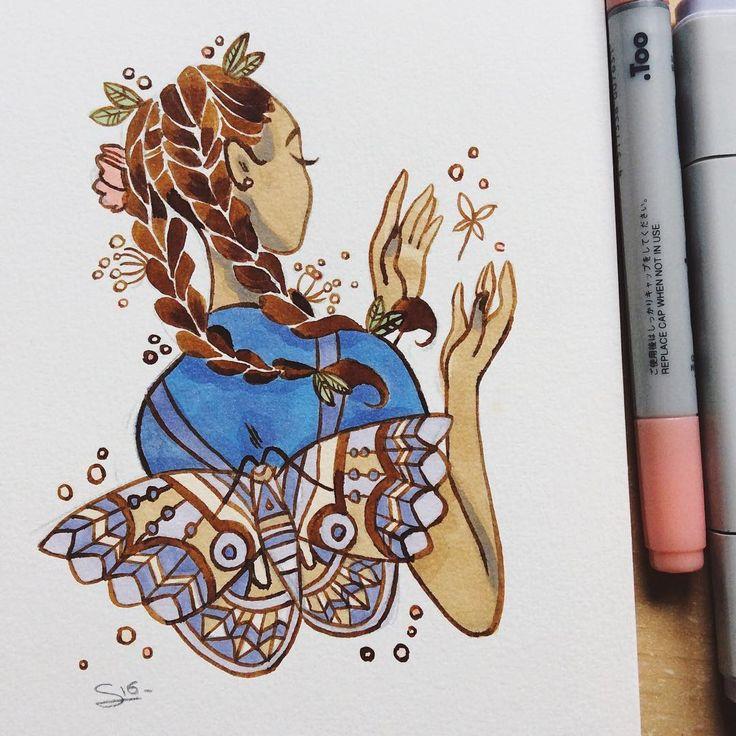 Art by Sibylline Meynet ✨ Es una ilustradora de París, Francia. Sibylline • Illustration & comics ✨profile picture by @m_atelier #Doodles #Sketchs @Sibylline_M patreon.com/jellyfishcomics