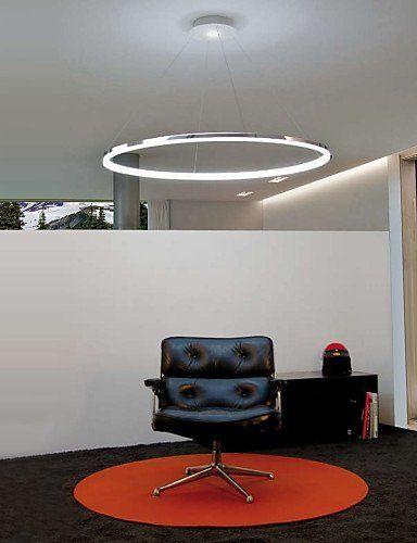 Max 30W Contemporaneo LED Galvanizzato Metallo Luci Pendenti Salotto / Camera da letto / Sala da pranzo / Sala studio/Ufficio , 110-120v , 60cm EURO 210,00