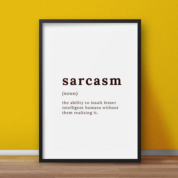 Definition print Sarcasm definition Definition wall art