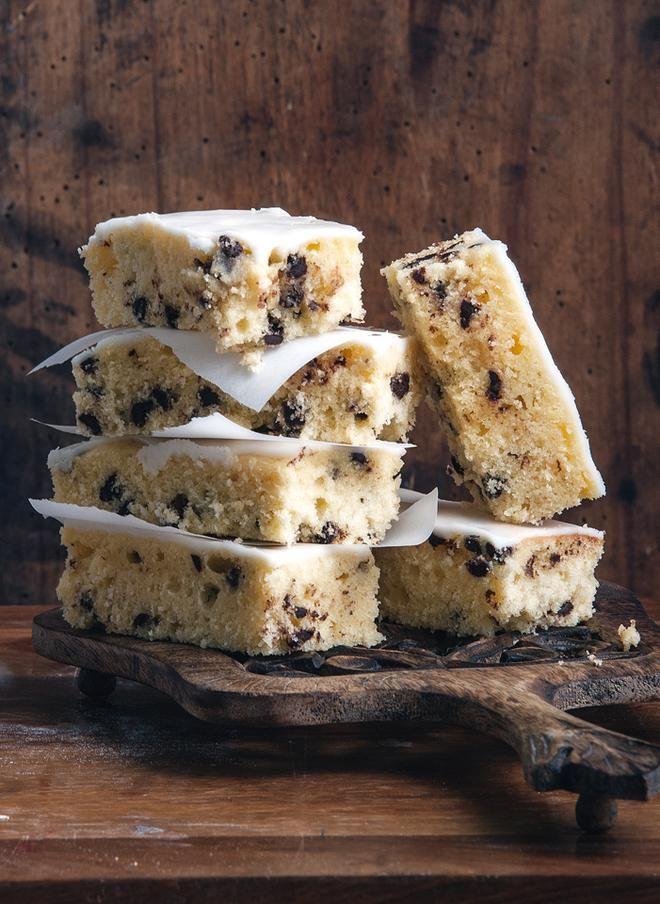 Κέικ-cookies με σοκολάτα και λεμόνι