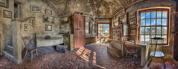 Rooms: One Of The Many Bedrooms In Fonthill Castle, Doylestown