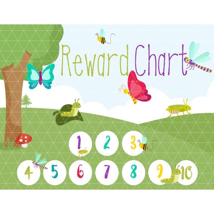 Kid's Reward Chart - Bedtime Routine - Reward Chart - Reward System - Family Organization - Preschool - Printable Potty Chart #learningtoys #rewardchart