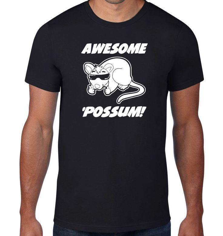 New+Black+For+Men+Tshirt+Awesome+Possum+TShirt,+Animal+Sunglasses+Custom+T-Shirt