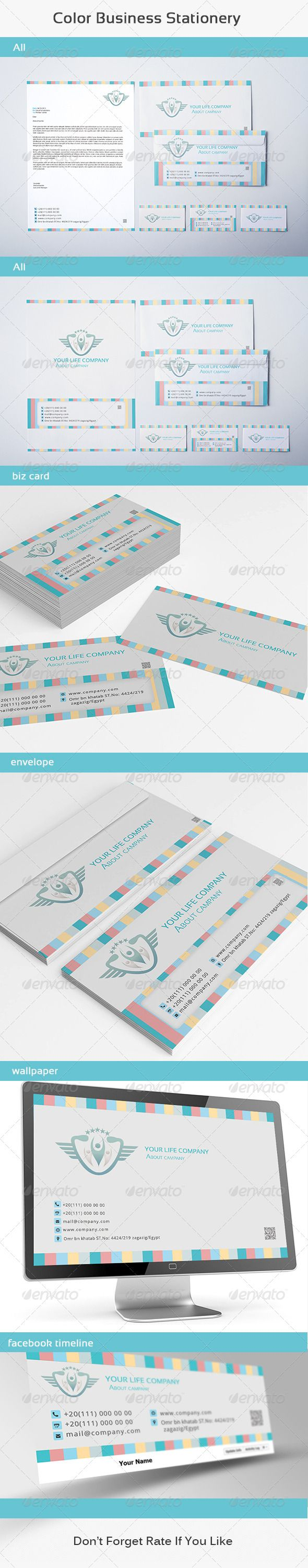Color printing bu - Color Business Stationery Graphicriver Features Fully Editable Files Letterhead 210 297 Mm