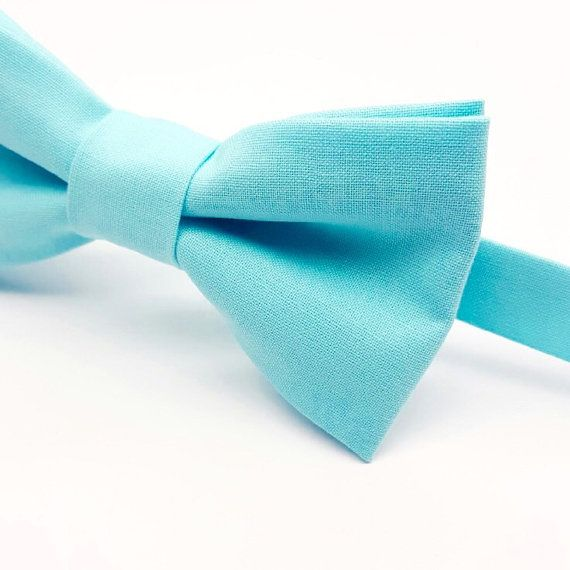 Turquoise Wedding Bow tie,  Aqua Blue Bow tie,  by FlyTiesforFlyGuys