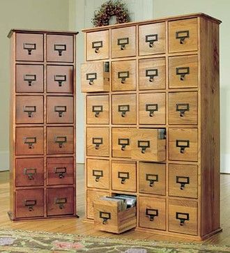 Retro Style Wooden Multimedia Library File Cabinets Traditional Filing  Cabinets And Carts