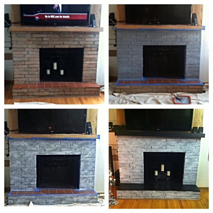17 Best Images About Fireplace On Pinterest Painted Brick Fireplaces Fireplaces And Whitewash