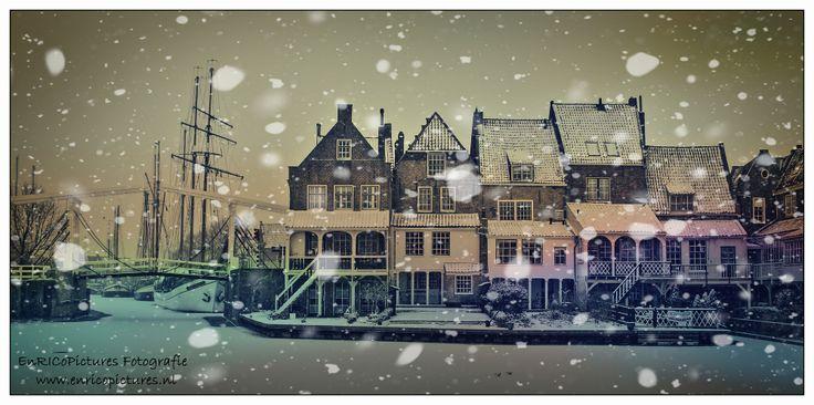 De Bocht / Zuiderspui in Enkhuizen in kerstsfeer