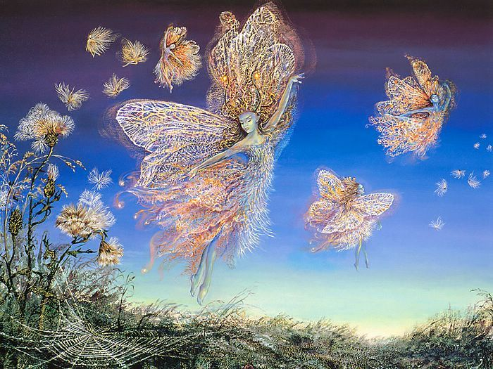 Gossamer and Thistledown - Mythical Fairies by Josephine Wall 14