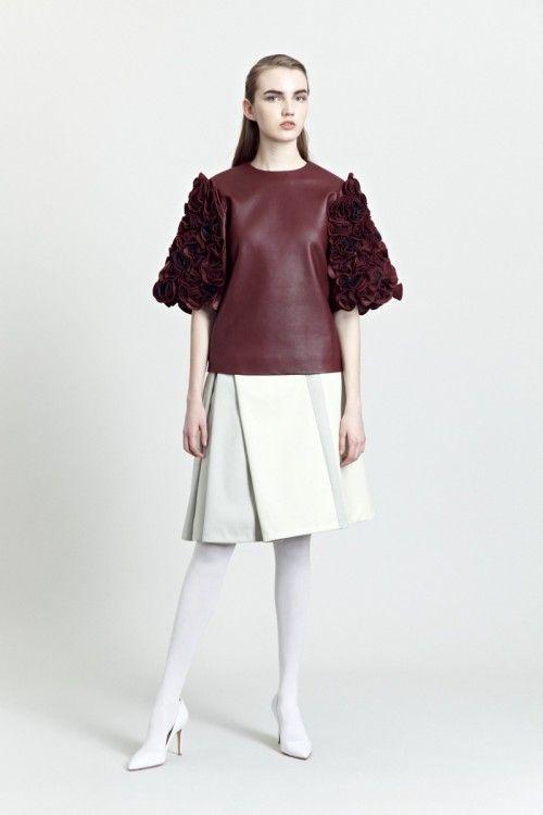 Siloa & Mook AW13: Magreda Top, Helve Skirt. #siloamook #fashionflashfinland #fashion #fashiondesigner #designer #aw13 #collection #Finland #Helsinki