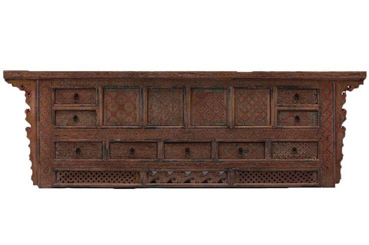 Beautiful old Xinjiang Chinese wood Sideboard CU563 | 2,780€ | 89 alto x 276 ancho x 49 cm fondo