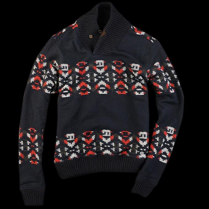 Woolrich John Rich & Bros. - Loom Shawl Collar Popover in NavyJohn Rich, Woolrich John, Collars Popovers, Shawl Collars, Loom Shawl