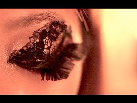 Lace Eyes Lace eyes tutorial. All you need is a piece of lace fabric, lash glue, scissors and a hunger to be bold :)