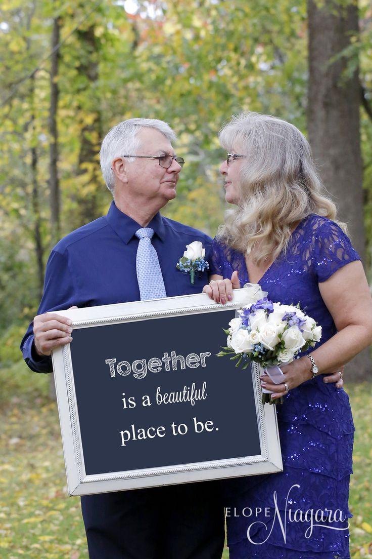 An elopement wedding in the Fall at Niagara's only Little Log Wedding Chapel.