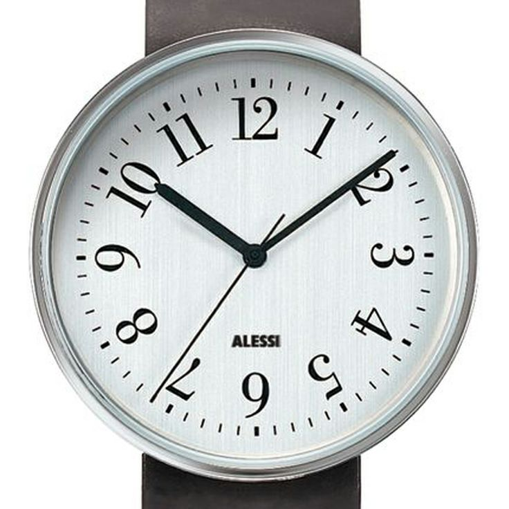 Record (black) watch by Alessi. Available at Dezeen Watch Store: www.dezeenwatchstore.com