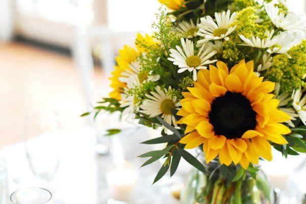 déco table fleurs tournesol idée centre de table floral déco fleurs