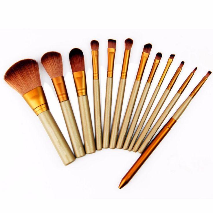 12 Pcs Beauté Essentiel Maquillage Brosses Set Maquiagem Cosmétique Make Up Set Fard À Paupières Accessoires Outils Kit De Mode Style