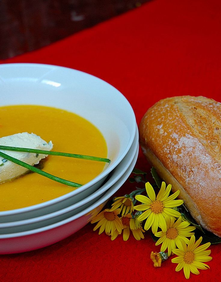 Spicy butternut soup to ease off the cold….