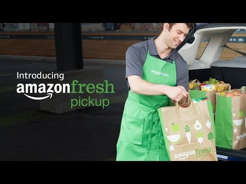 Amazon Teases Quick, Free Grocery Pickup  | PCMag.com 3/28/17 Prime members will soon be able to drive to a pickup location where an employee will load their groceries into their cars