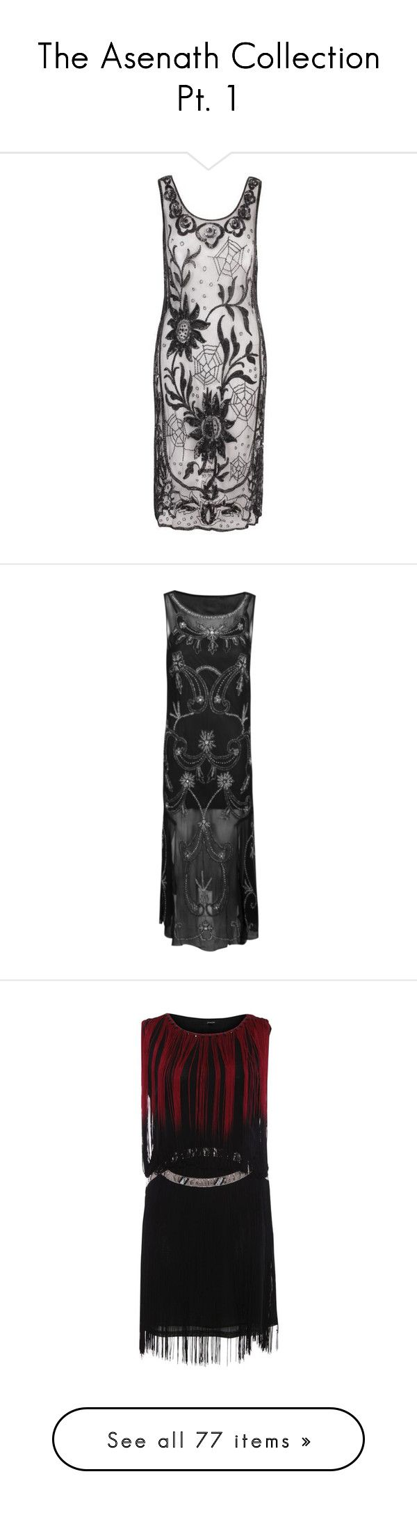 """""""The Asenath Collection Pt. 1"""" by kleenexwoman ❤ liked on Polyvore featuring costumes, dresses, flapper halloween costumes, 1920s costume, 1920s halloween costumes, black costume, gatsby halloween costumes, gowns, black and floral print maxi dress"""