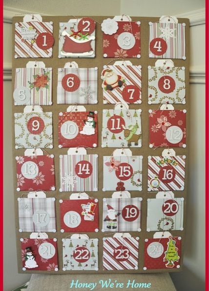 Advent: Christmas Advent Calendar, Advent Activities, Kids Activities, Families Calendar, Scrapbook Paper, Diy Advent, Honey We R, Advent Ideas, Advent Calendar Activities